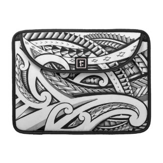 Original Maori tribal tattoo design with shading Sleeve For MacBooks