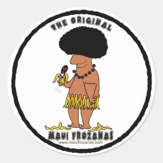 Original Maui Frozanas Round Sticker