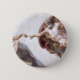 Original Michelangelo paint in sistin chapel Rome 2 Inch Round Button