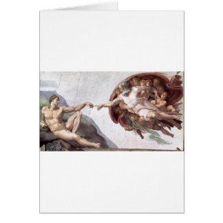 Original Michelangelo paint in sistin chapel Rome Card