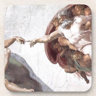 Original Michelangelo paint in sistin chapel Rome Coaster