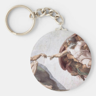 Original Michelangelo paint in sistin chapel Rome Keychain