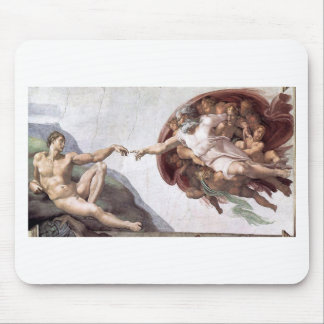 Original Michelangelo paint in sistin chapel Rome Mouse Pad