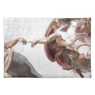 Original Michelangelo paint in sistin chapel Rome Placemat