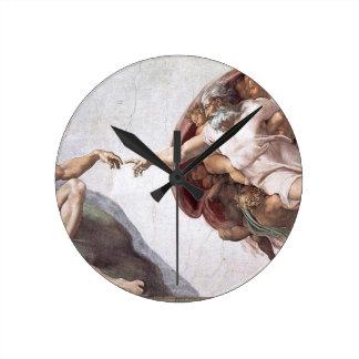 Original Michelangelo paint in sistin chapel Rome Round Clock