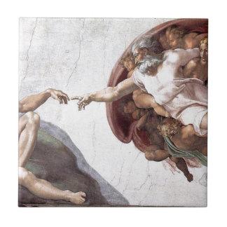 Original Michelangelo paint in sistin chapel Rome Tile