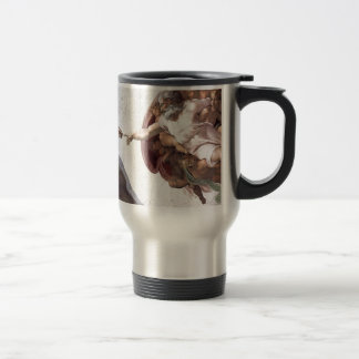 Original Michelangelo paint in sistin chapel Rome Travel Mug
