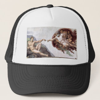 Original Michelangelo paint in sistin chapel Rome Trucker Hat