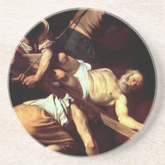 """Original paint """"La crocifissione di s Pietro"""" Coaster"""