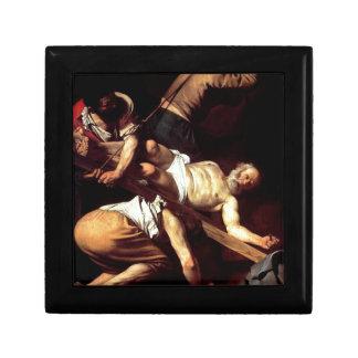 """Original paint """"La crocifissione di s Pietro"""" Jewelry Box"""