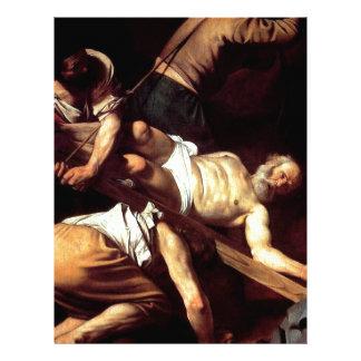 """Original paint """"La crocifissione di s Pietro"""" Letterhead"""