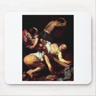 """Original paint """"La crocifissione di s Pietro"""" Mouse Pad"""