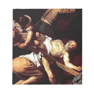 """Original paint """"La crocifissione di s Pietro"""" Notepad"""