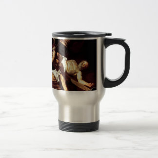 """Original paint """"La crocifissione di s Pietro"""" Travel Mug"""