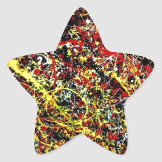 Original paint of Jackson Pollock Star Sticker
