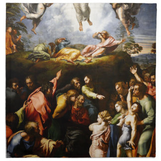 "Original paint ""the Transfiguration"" Raffaello Napkin"