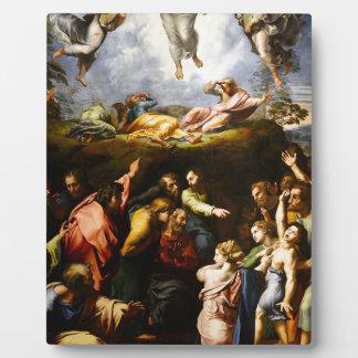 """Original paint """"the Transfiguration"""" Raffaello Plaque"""