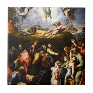 "Original paint ""the Transfiguration"" Raffaello Tile"