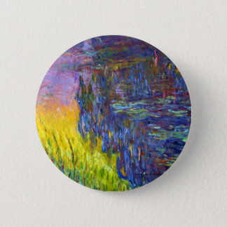 "Original paint ""The Water Lilies"" by Claude Monet 2 Inch Round Button"