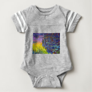 "Original paint ""The Water Lilies"" by Claude Monet Baby Bodysuit"