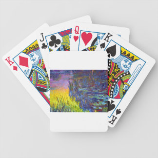"Original paint ""The Water Lilies"" by Claude Monet Bicycle Playing Cards"