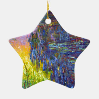 "Original paint ""The Water Lilies"" by Claude Monet Ceramic Ornament"