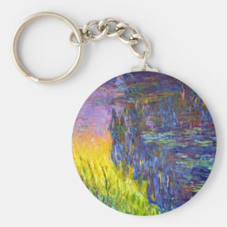 "Original paint ""The Water Lilies"" by Claude Monet Keychain"