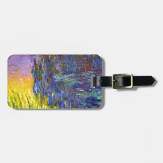 "Original paint ""The Water Lilies"" by Claude Monet Luggage Tag"