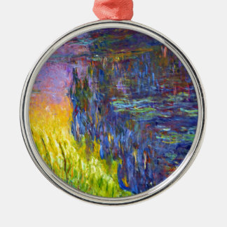 "Original paint ""The Water Lilies"" by Claude Monet Metal Ornament"