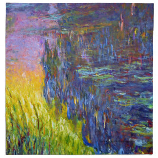 "Original paint ""The Water Lilies"" by Claude Monet Napkin"