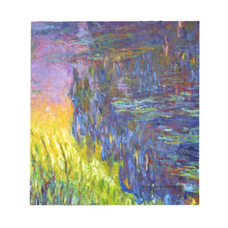 "Original paint ""The Water Lilies"" by Claude Monet Notepad"