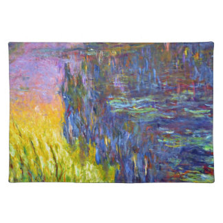 "Original paint ""The Water Lilies"" by Claude Monet Placemat"