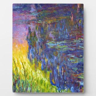 "Original paint ""The Water Lilies"" by Claude Monet Plaque"