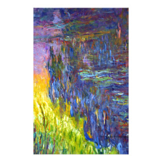 "Original paint ""The Water Lilies"" by Claude Monet Stationery"