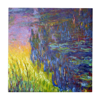 "Original paint ""The Water Lilies"" by Claude Monet Tile"