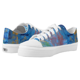 "Original Paintinq ""Blue Moon"" from Tquinnartist Low-Top Sneakers"