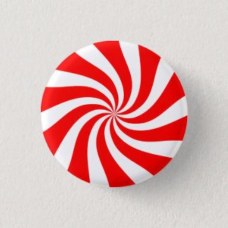 [Original] Peppermint Candy 1 Inch Round Button