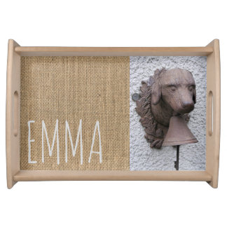 Original personalized Serving Tray Dog Year 2018