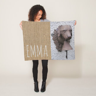 Original personalized small Blanket Dog Year 2018