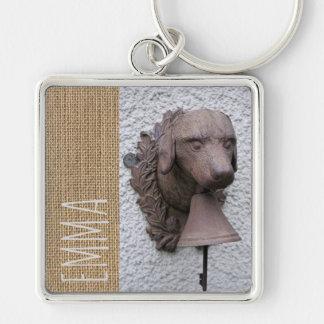 Original personalized Sq Keychain Dog Year 2018