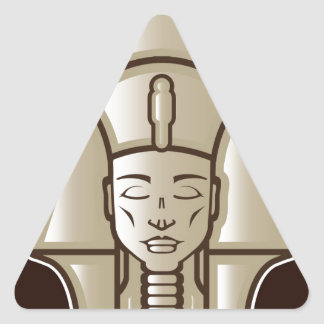 Original pharaoh egyptian ruler triangle sticker