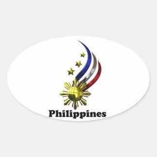 Original Philippine Logo. Mabuhay Pilipinas ! Oval Sticker