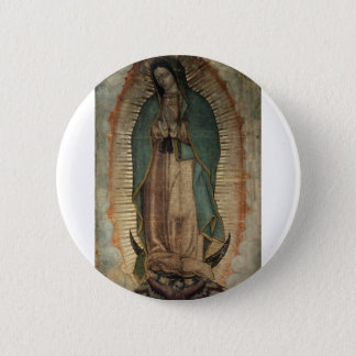 Original Picture of Our Lady of Guadalupe 2 Inch Round Button