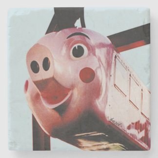 Original Pink Pig Rich's Atlanta Landmark Coaster
