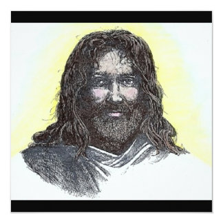 "Original Poem's & Art By Faith Too Faith Missions. 5.25"" Square Invitation Card"
