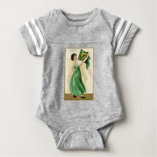 Original poster of St Patricks Day Flag Lady Baby Bodysuit