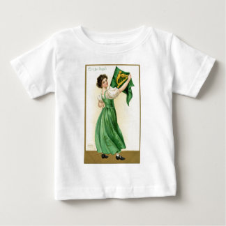 Original poster of St Patricks Day Flag Lady Baby T-Shirt