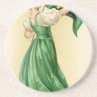 Original poster of St Patricks Day Flag Lady Coaster