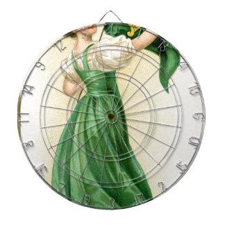 Original poster of St Patricks Day Flag Lady Dartboards