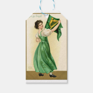 Original poster of St Patricks Day Flag Lady Gift Tags